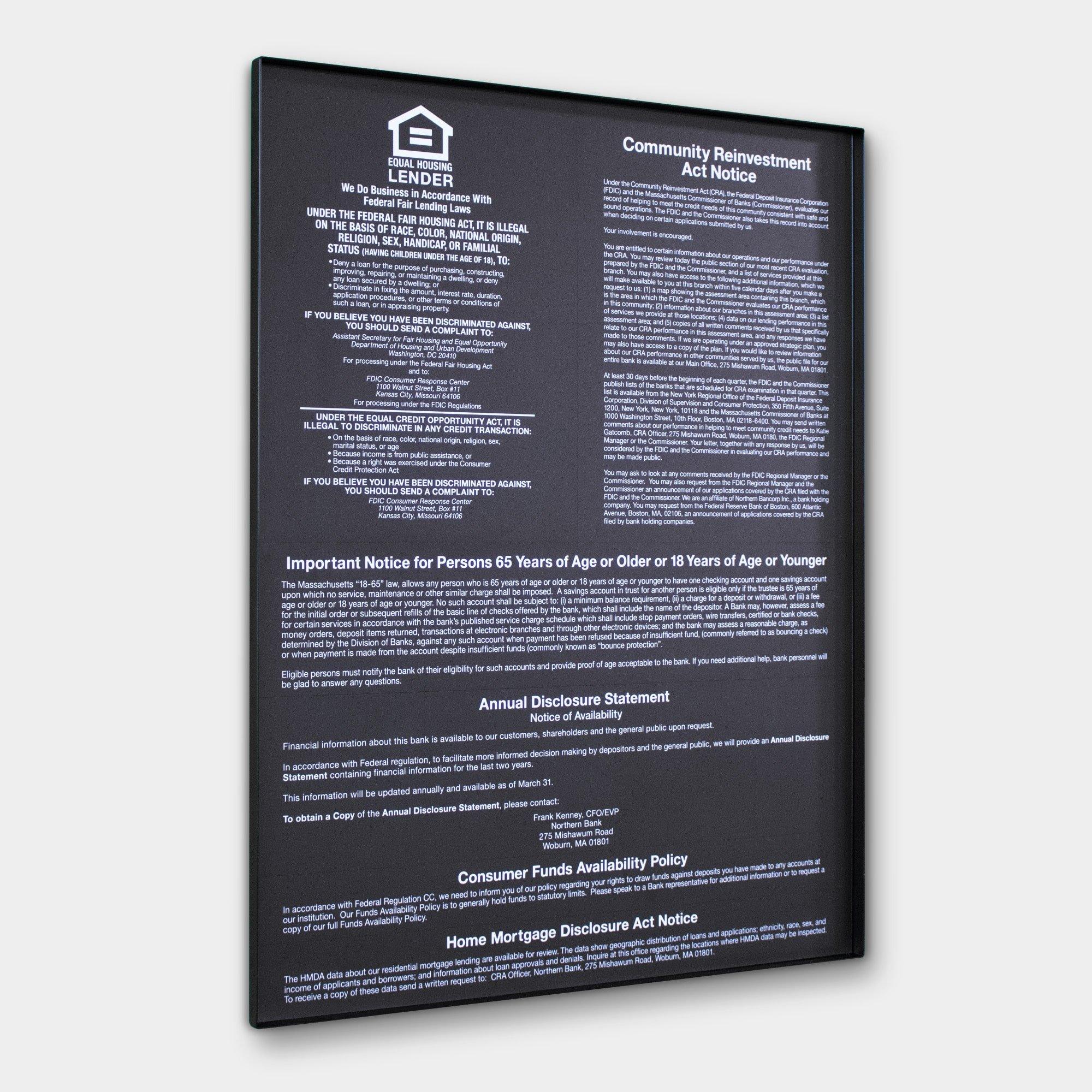 Mandatory Compliance Signage