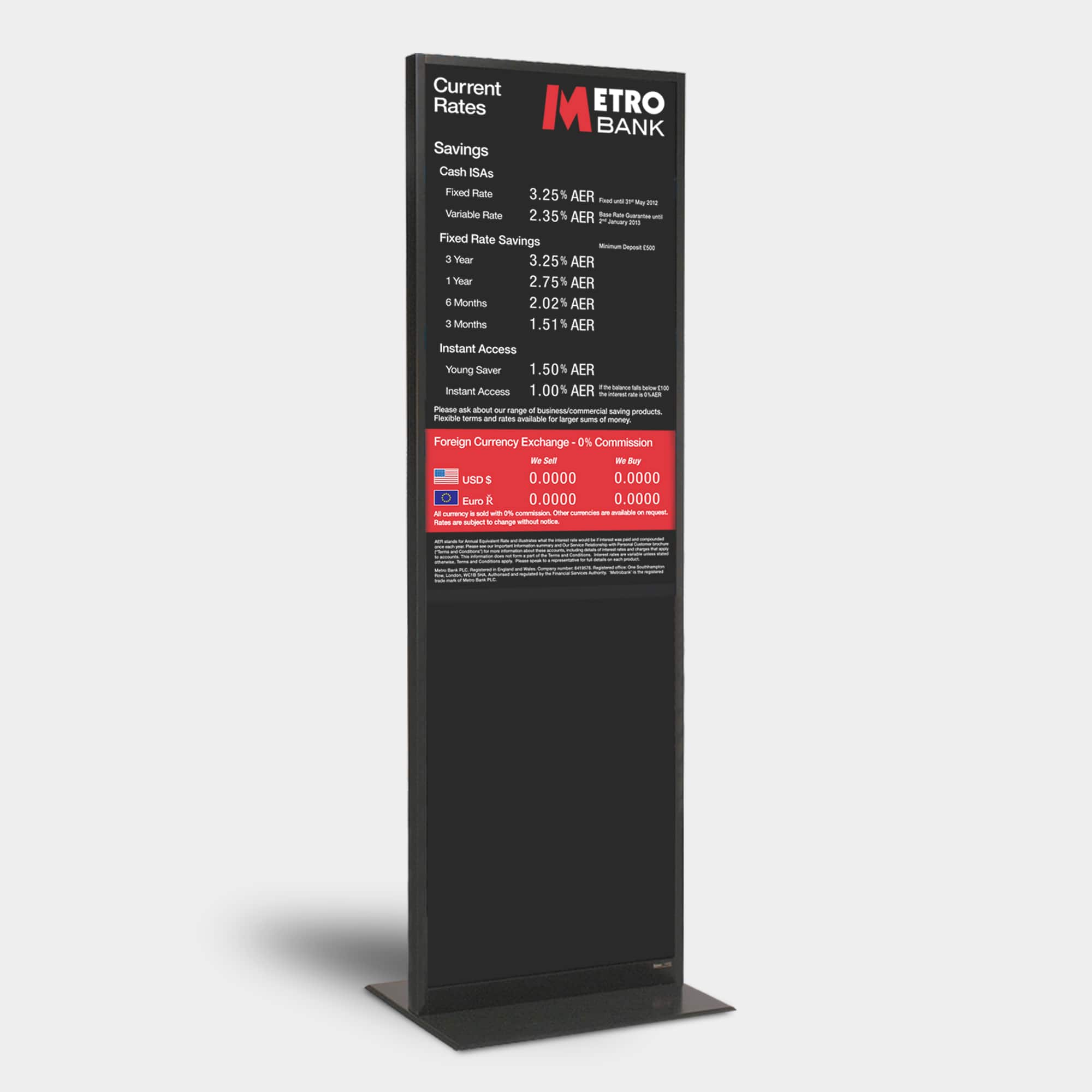 Door Mount Glass Mounted Poster Holder Kane Graphical